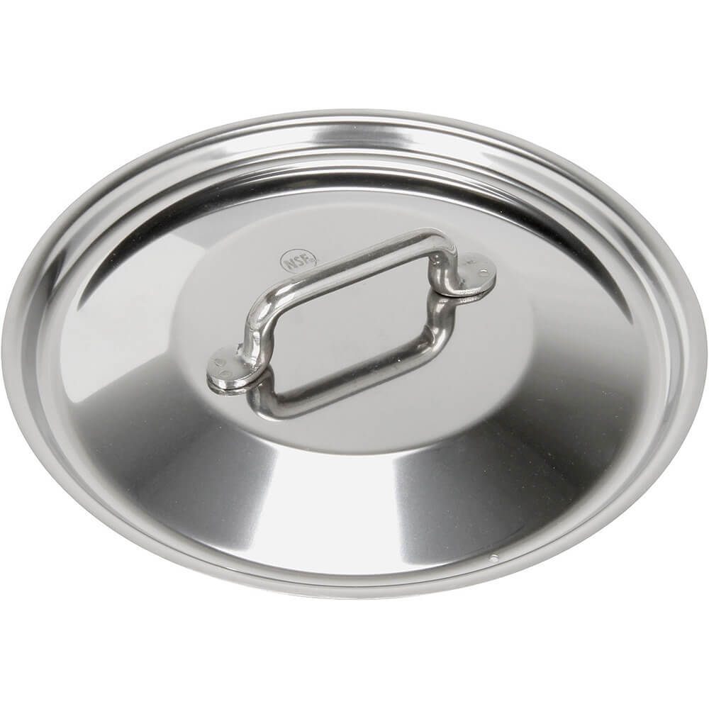Stainless Steel, 18/10 Steel Lid For Catering Cookware, Dim: 7.87""
