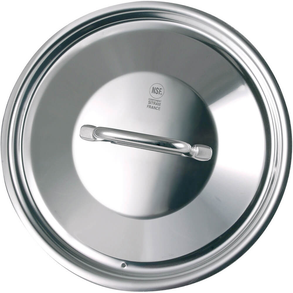 Stainless Steel, 18/10 Steel Lid For Catering Cookware, Dim: 11.02""