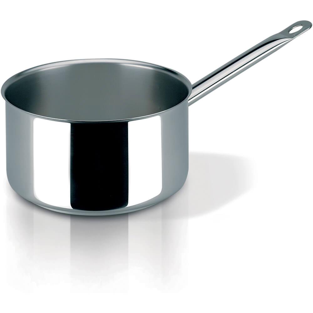 Stainless Steel, 18/10 Steel Profiserie Saucepan, 0.6 Qt.