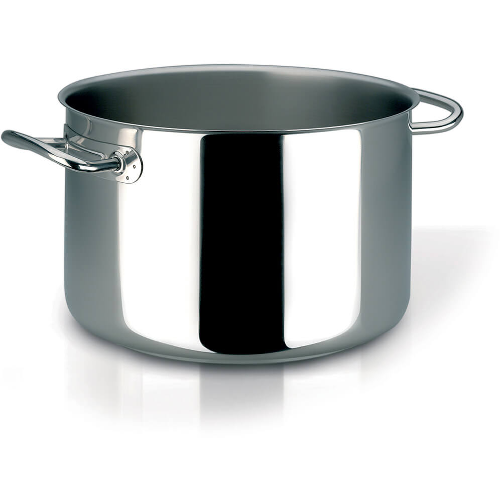Stainless Steel, 18/10 Steel Profiserie Half Stock Pot, 19.8 Qt.