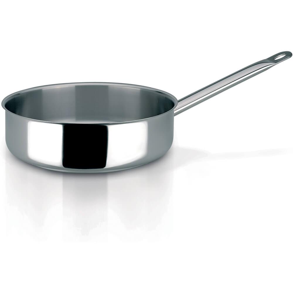 Stainless Steel, 18/10 Steel Profiserie Saute Pan, 3.3 Qt.