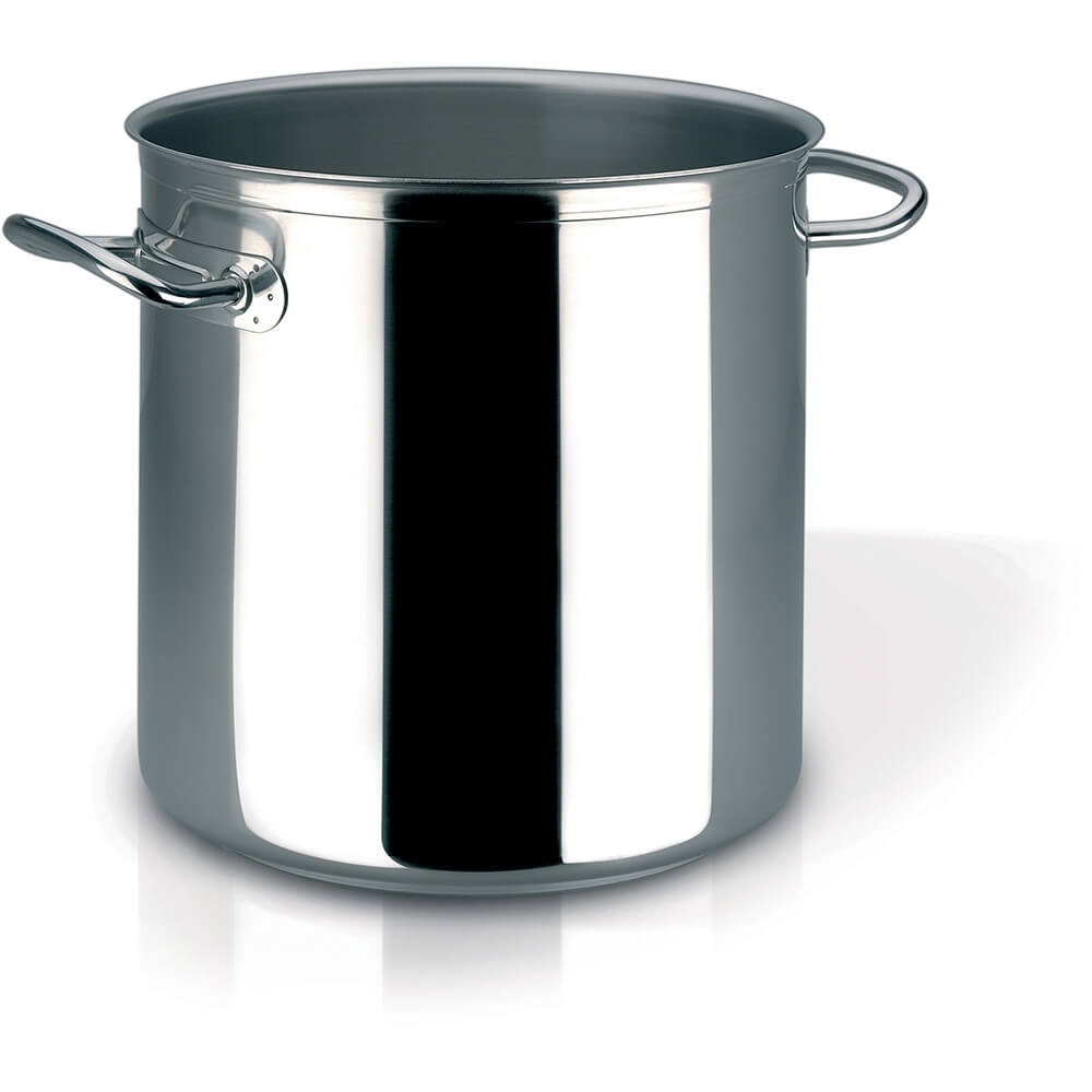 Stainless Steel, 18/10 Steel Profiserie Stock Pot, 52.6 Qt.
