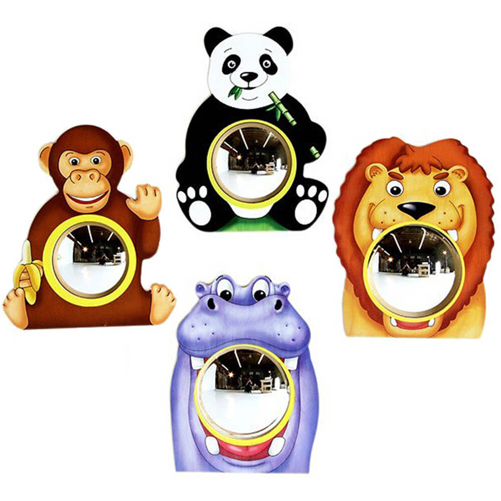 Animal Friends Decorative Wall Mirrors (set Of 4)