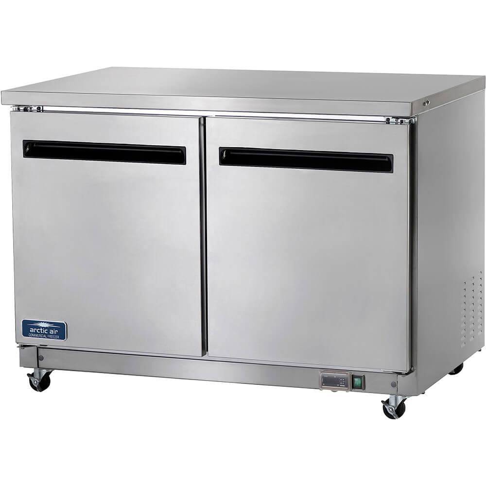 Stainless Steel, Double Door Undercounter / Worktop Freezer