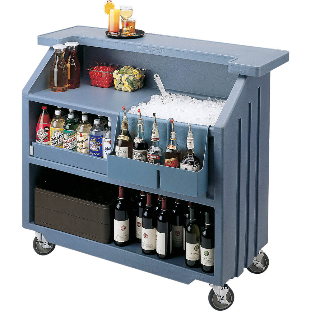 Black, Small Portable Bar, Indoor / Outdoor Bar View 2