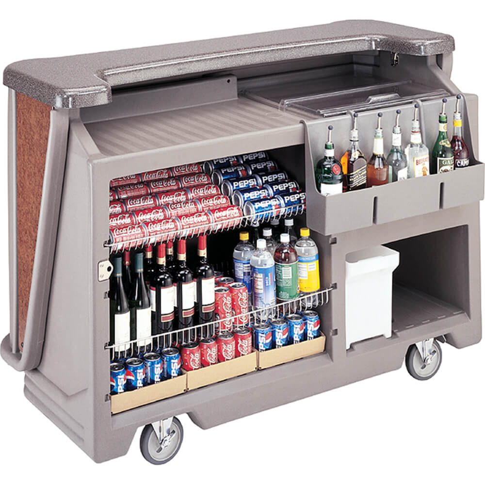 Black, Mid-size Portable Bar with Sealed-In Cold Plate View 2
