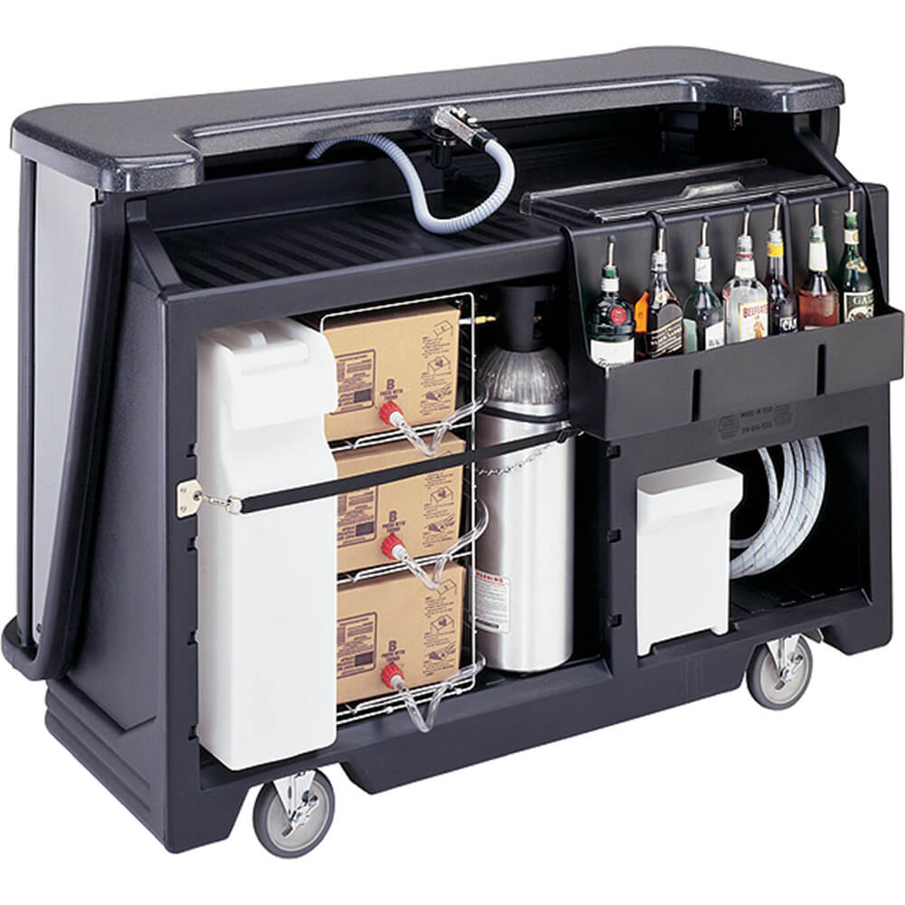Black, Mid-size Portable Bar with Post-Mix Soda Gun View 2