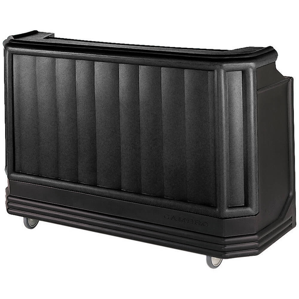 Black, Mid-size Portable Bar with Sealed-In Cold Plate