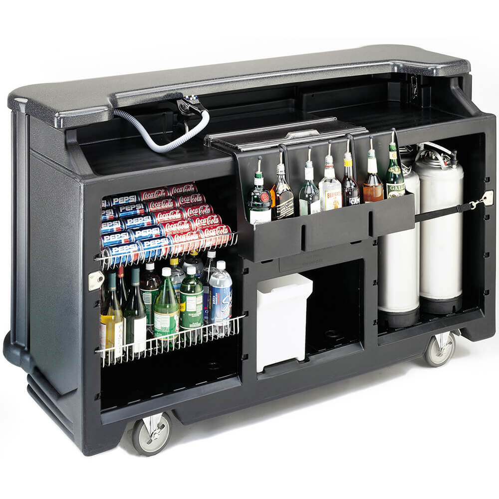 Black, Portable Bar with Pre-Mix Soda Gun View 2