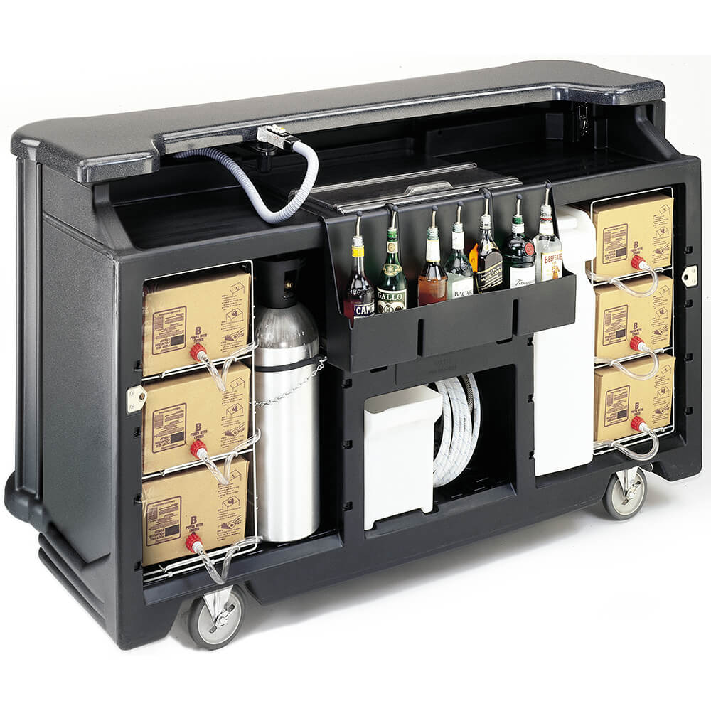 Black, Portable Bar with Post-Mix Soda Gun View 2