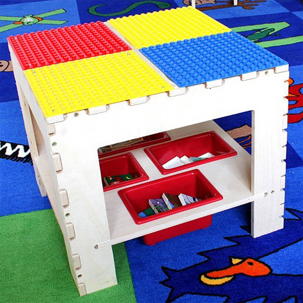 Wooden Building Block Kids Table