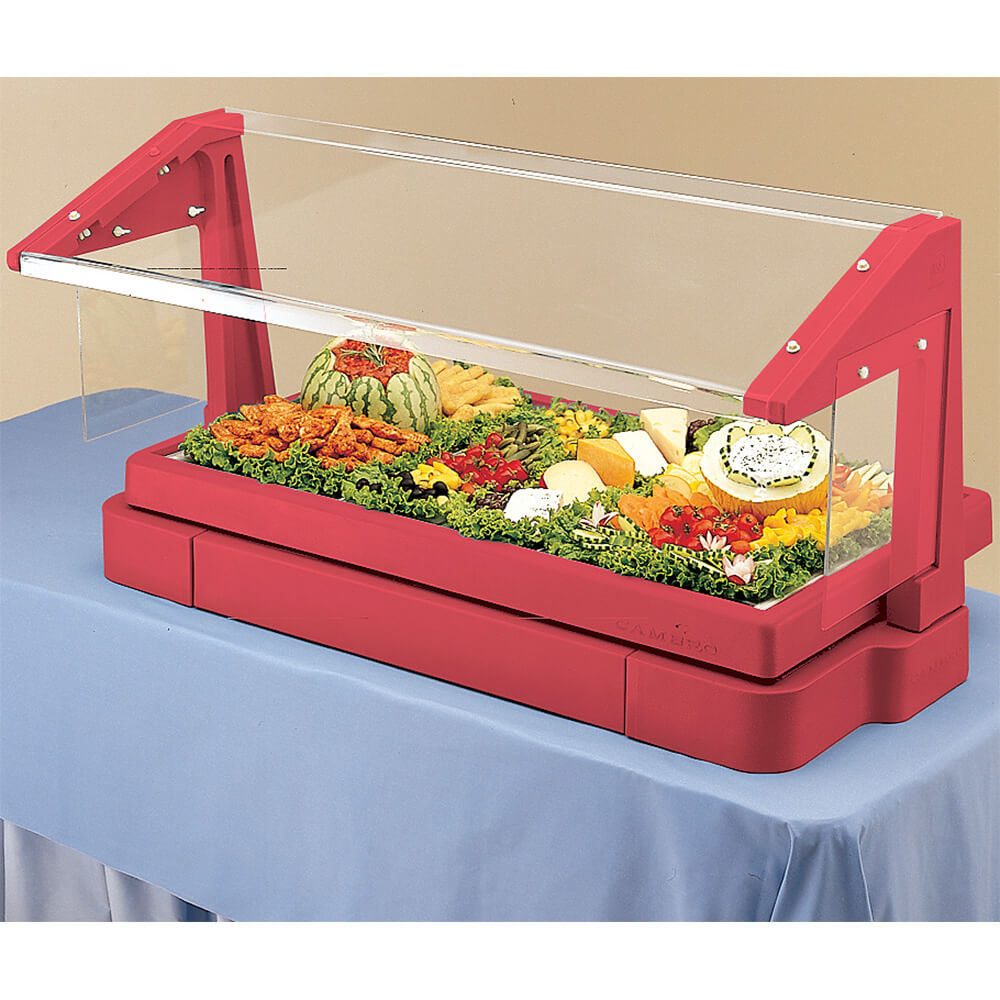 Hot Red, 6ft Table Top Buffet Bar with Sneeze Guard