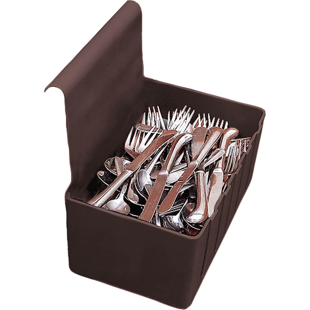 Dark Brown, 1.75 Gal. Silverware Holder
