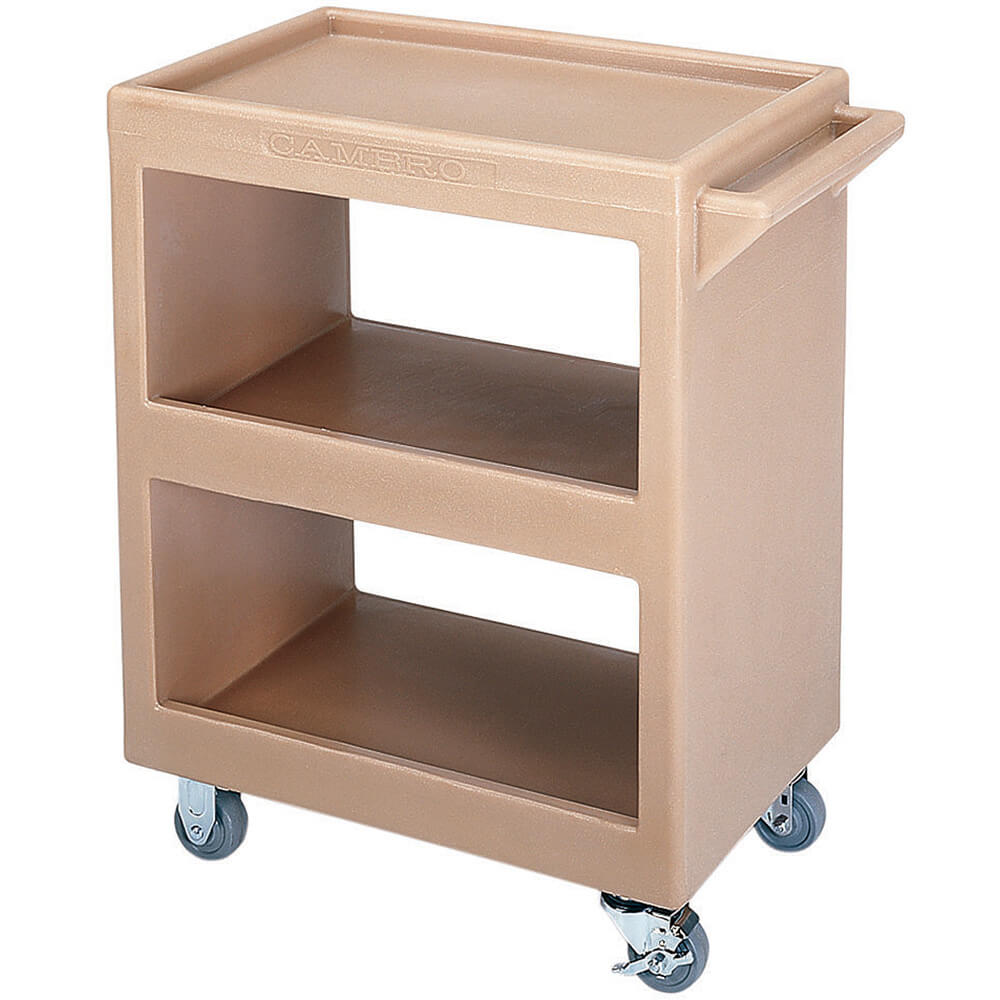 "Coffee Beige, 28"" x 16"" Service Cart, Open, 4 Swivel Casters"