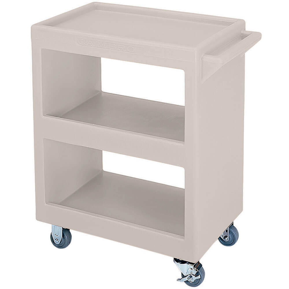 "Gray, 28"" x 16"" Service Cart, Open, 4 Swivel Casters"