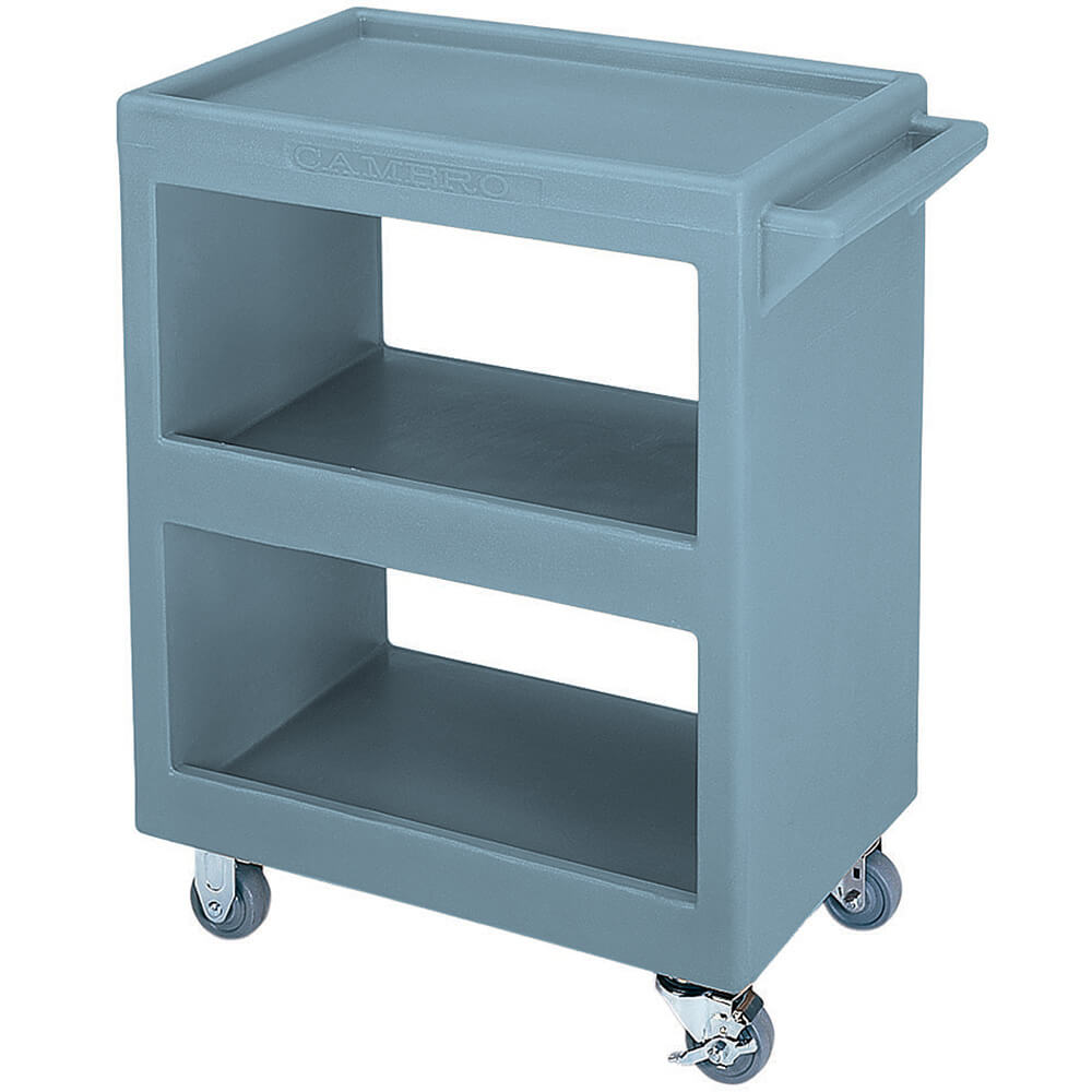 "Slate Blue, 28"" x 16"" Service Cart, Open, 4 Swivel Casters"