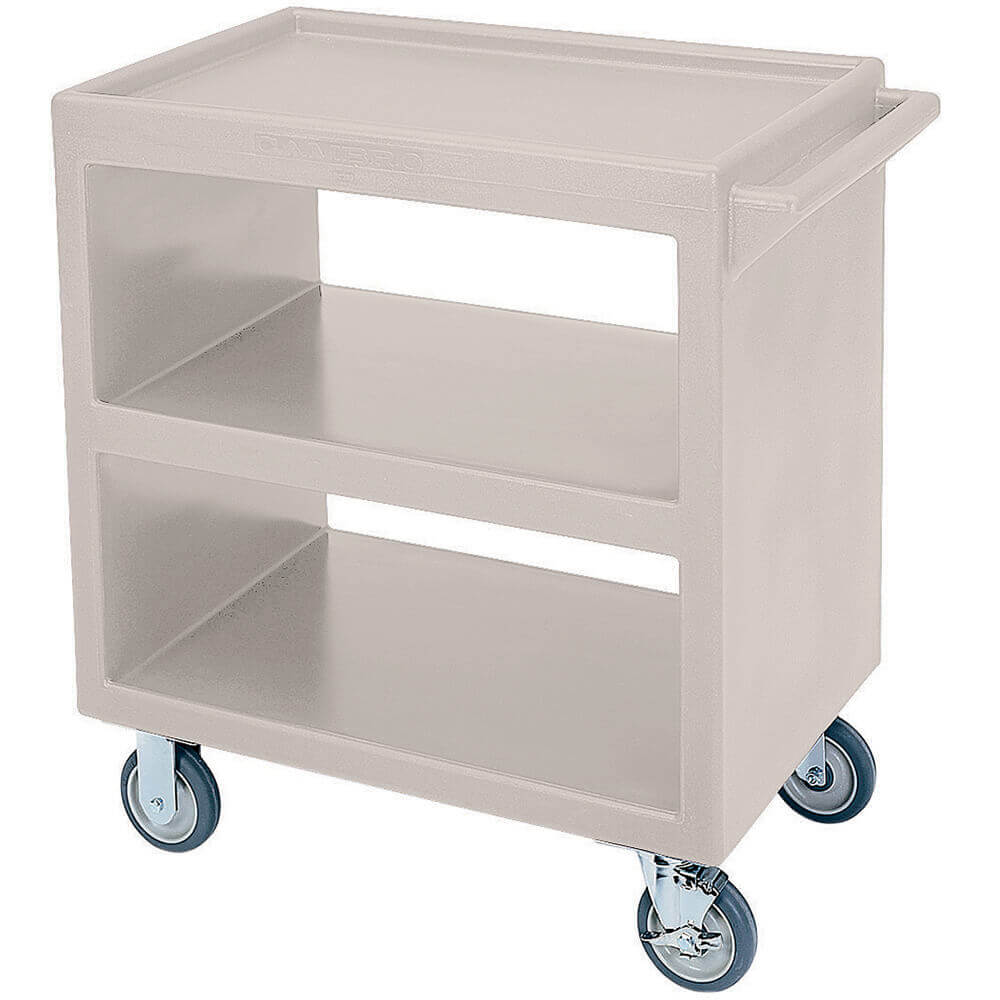 "Gray, 33-1/4"" x 20"" Service Cart, Open, 4 Swivel Casters"