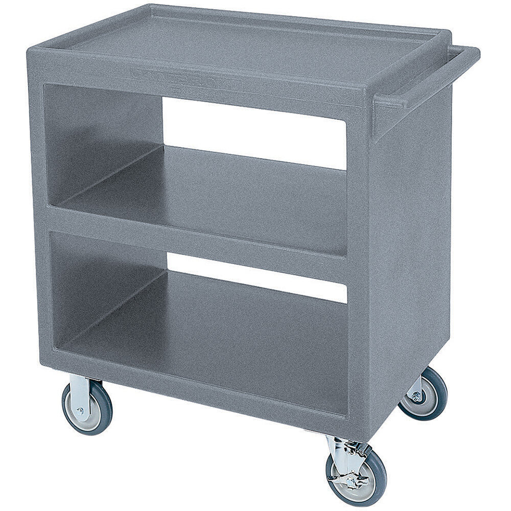 "Granite Gray, 33-1/4"" x 20"" Service Cart, Open, 4 Swivel Casters"