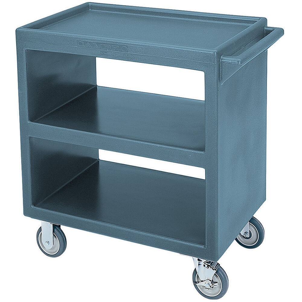 "Slate Blue, 33-1/4"" x 20"" Service Cart, Open"