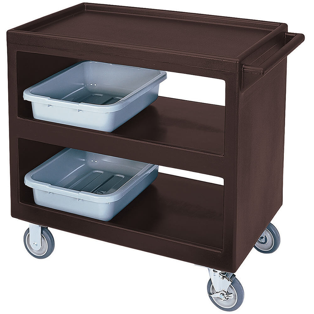 "Dark Brown, 37-1/4"" x 21-1/2"" Service Cart, Open"