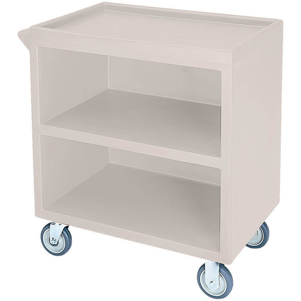 "Gray, 33-1/8"" x 20"" Service Cart, Enclosed, 2 Swivel Casters"