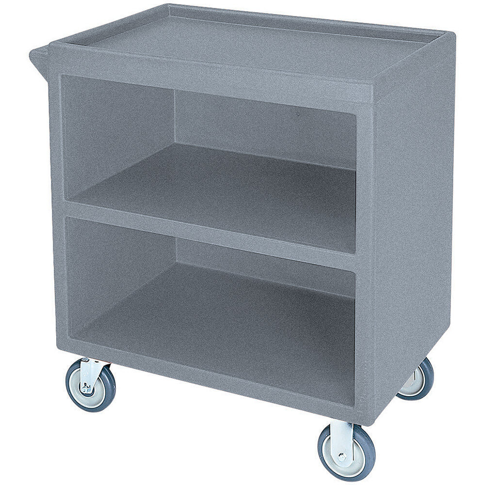 "Granite Gray, 33-1/8"" x 20"" Service Cart, Enclosed, 4 Swivel Casters"