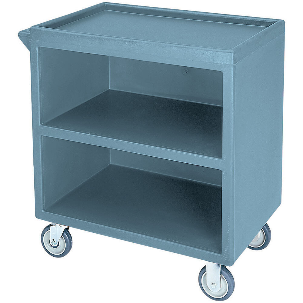 "Slate Blue, 33-1/8"" x 20"" Service Cart, Enclosed, 4 Swivel Casters"