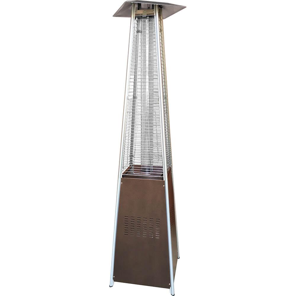 Gold Hammered, Bronze 40,000 BTU Pyramid Flame Propane Gas Patio Heater