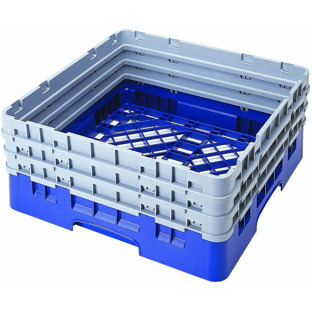 Blue, Full Size Base Racks with 3 Extenders