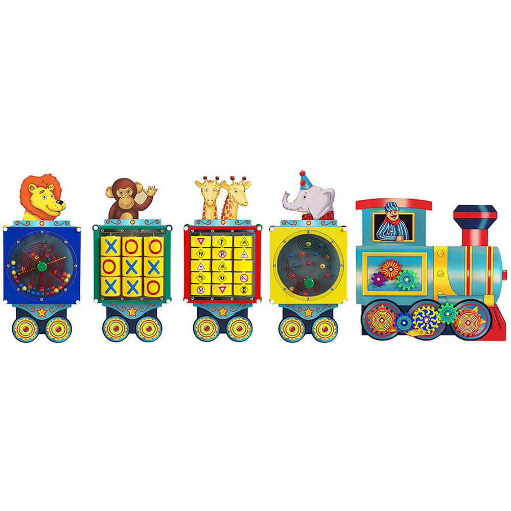 Busy Train Activity Wall Panel