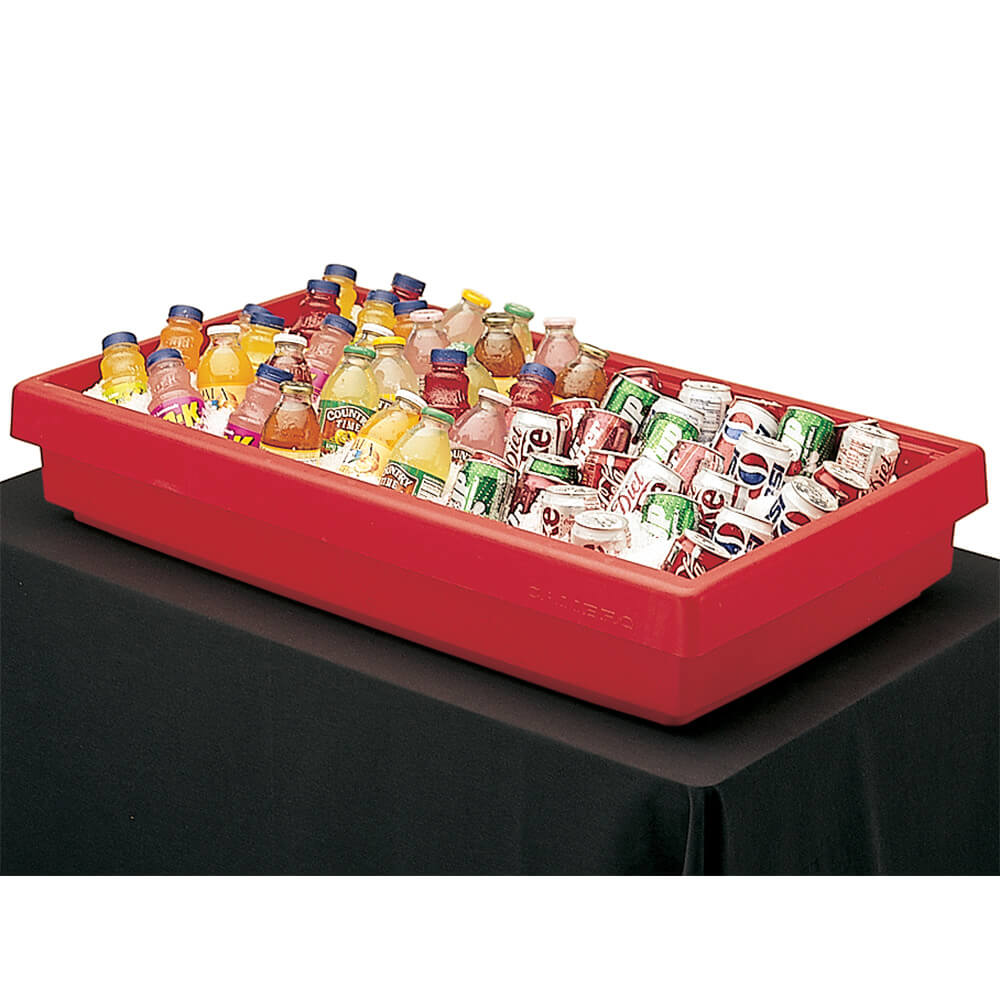 Hot Red, Small Table Top Buffet Bar Base