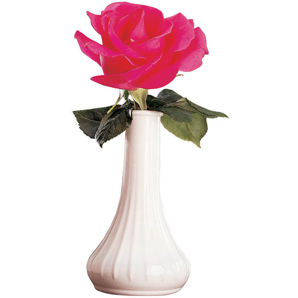 "White, 6"" Polycarbonate Bud Vases, 12 Pack"