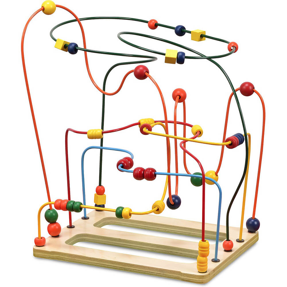 Classic Bead Maze Wooden Toy