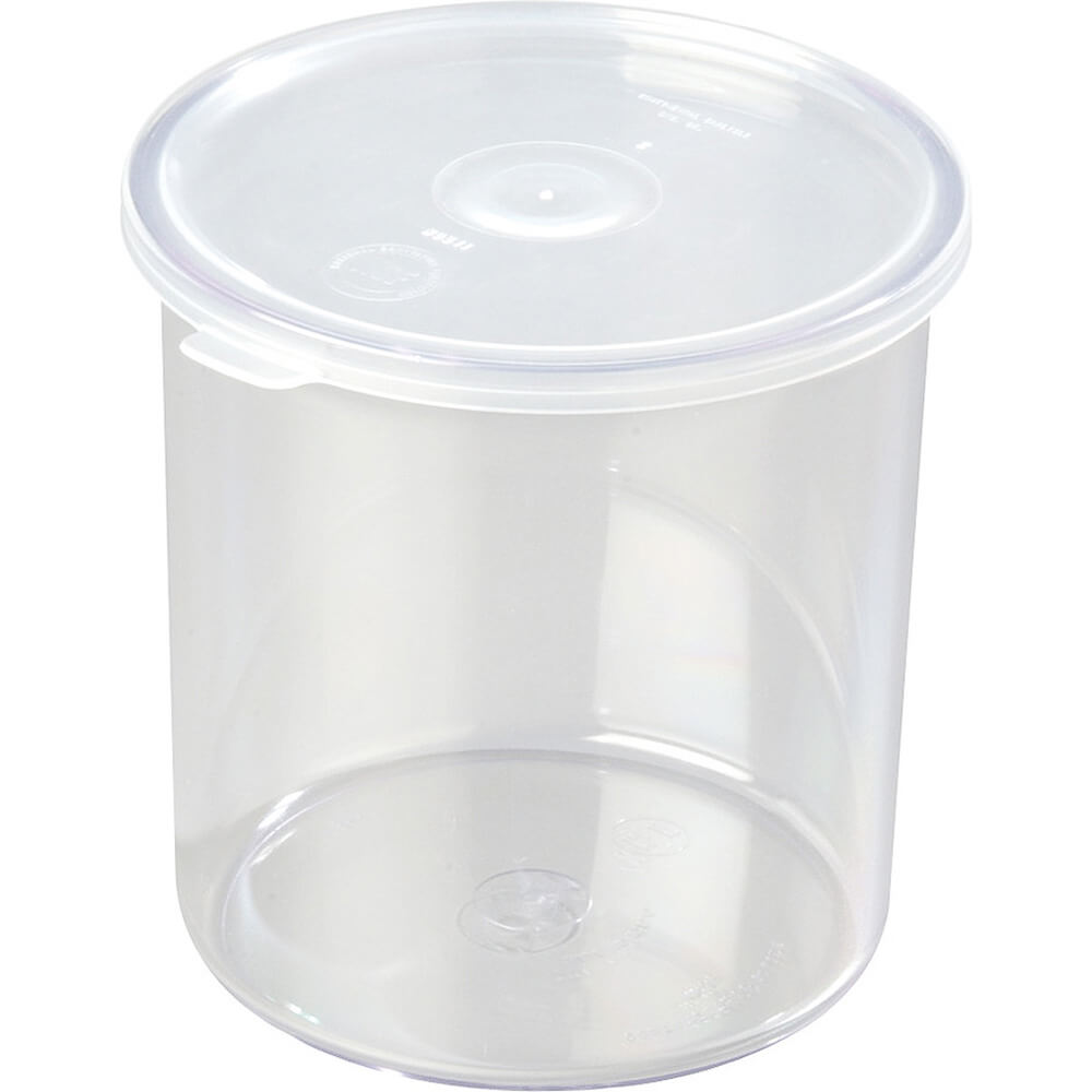 Clear, 1.2 Qt. Crocks with Lid, 12/PK