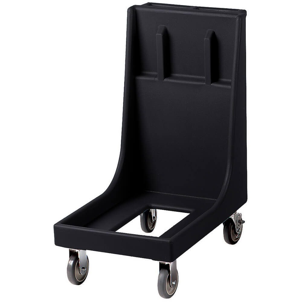 "Black, 19-3/4"" x 33-1/8"" Dolly, Molded Handles, 350 Lb Capacity"