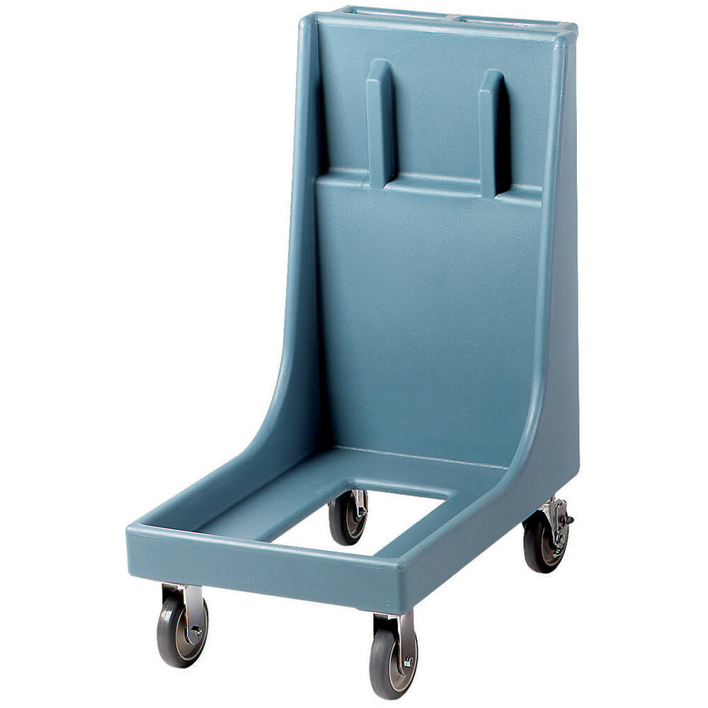 "Slate Blue, 19"" x 30-1/8"" Dolly, Molded Handles, 350 Lb Capacity"