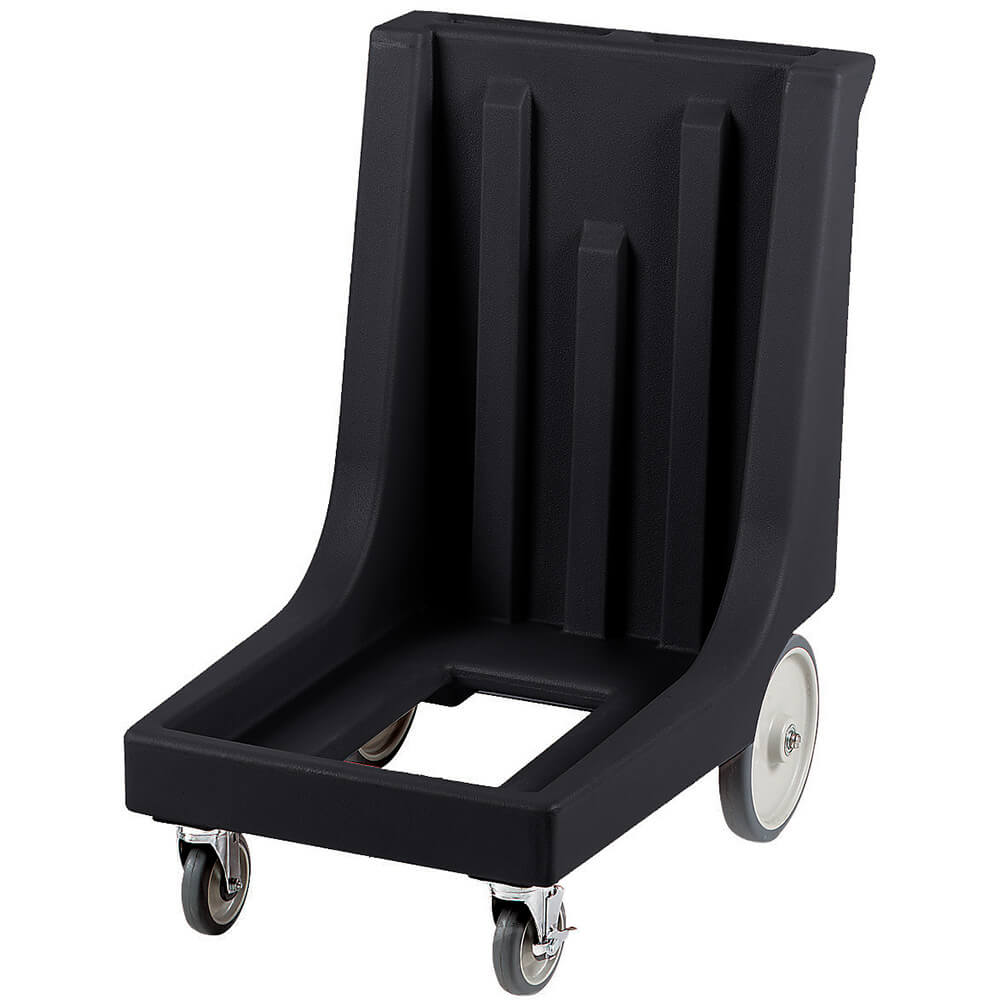 "Black, 23-1/2"" x 29-7/8"" Dolly, Molded Handles, 350 Lb Capacity"