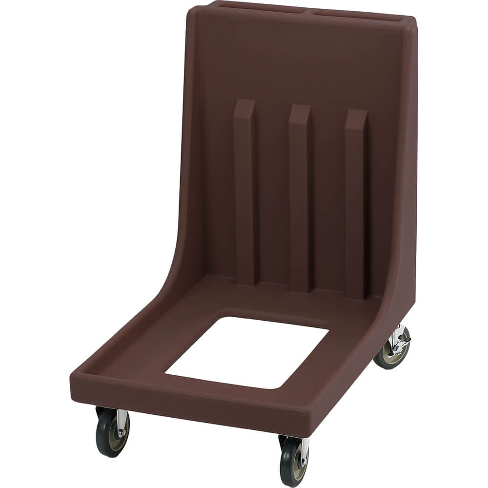 "Dark Brown, 23-15/16"" x 35-1/8"" Dolly, Molded Handles, 350 Lb Capacity"