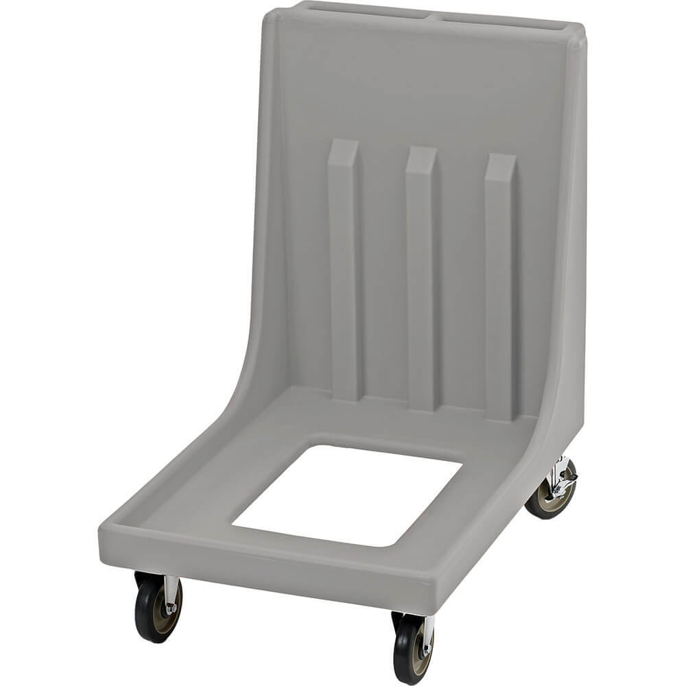 "Gray, 23-15/16"" x 35-1/8"" Dolly, Molded Handles, 350 Lb Capacity"