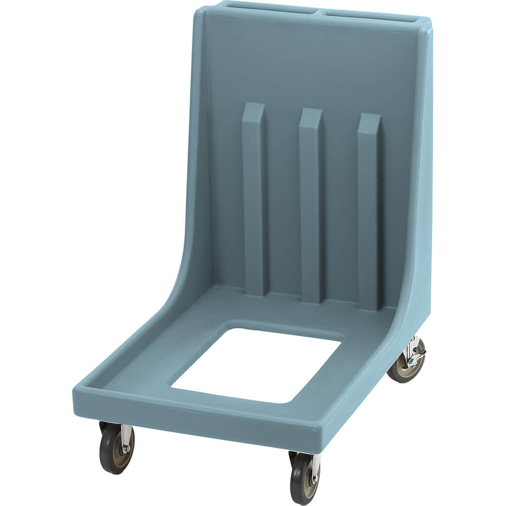"Slate Blue, 23-15/16"" x 35-1/8"" Dolly, Molded Handles, 350 Lb Capacity"