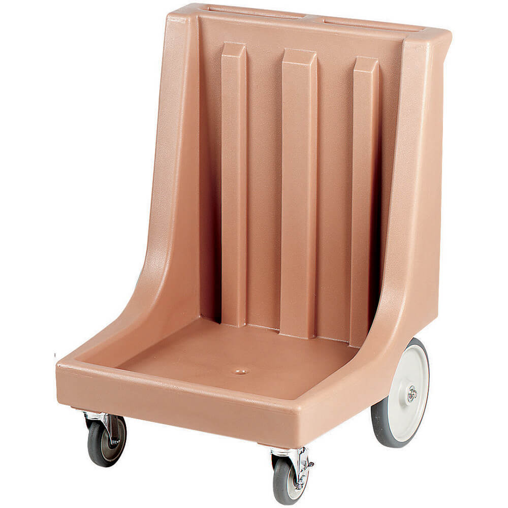 "Coffee Beige, 26"" x 26-7/8"" Dolly, Molded Handles, 350 Lb Capacity"