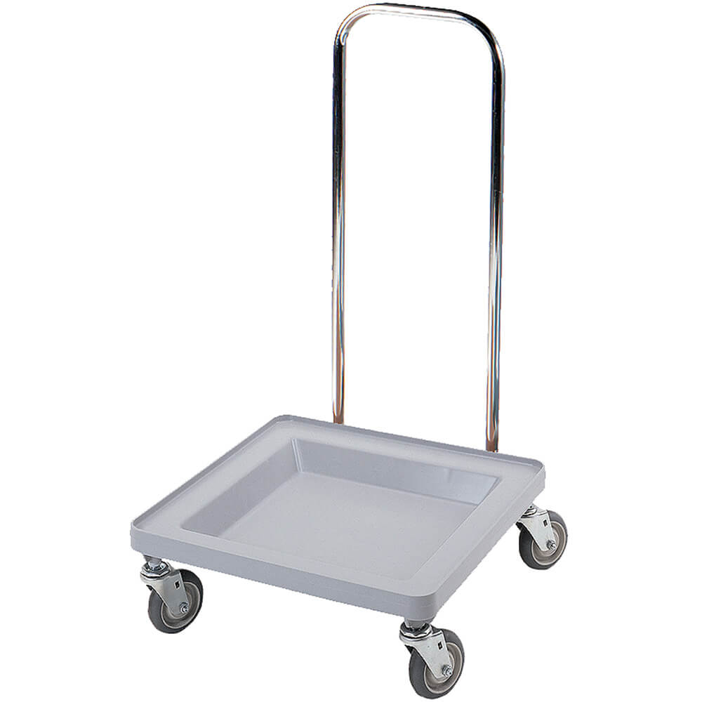 "Soft Gray, 21-3/8"" x 23-3/8"" Dolly, Chrome Handles, 350 Lb Capacity"