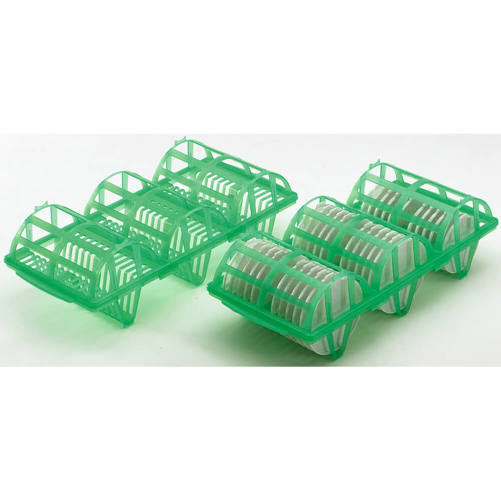 Kelly Green, Wash and Store Rack for Reusable Shoreline Lids, 4/PK