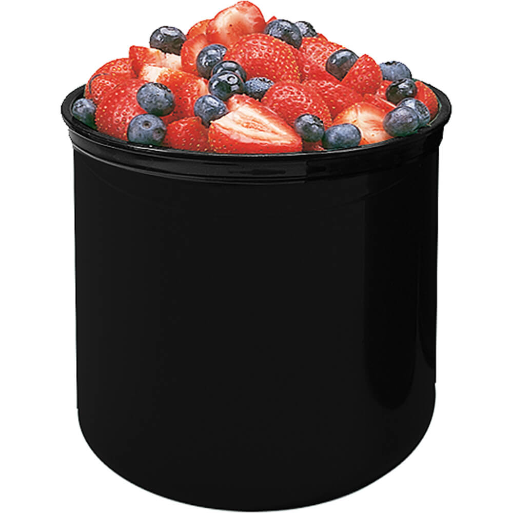 Black, 2.7 Qt. Crocks with Lid, 6/PK
