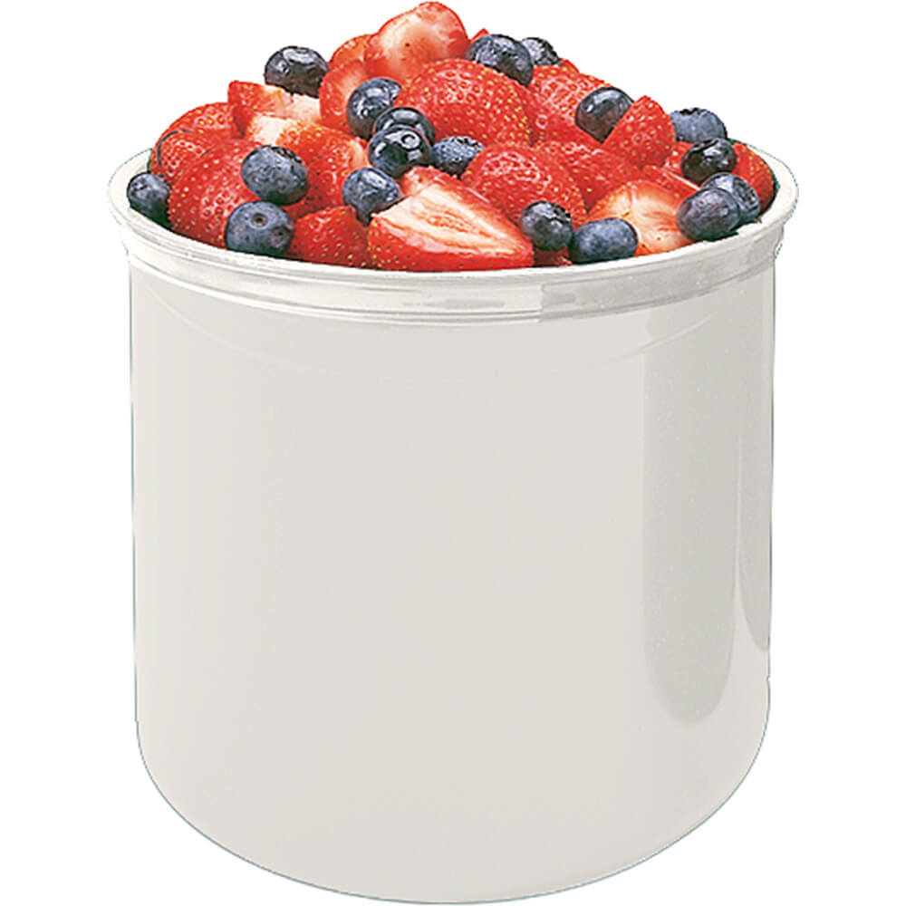White, 2.7 Qt. Crocks with Lid, 6/PK