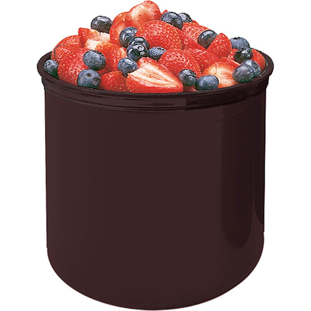 Reddish Brown, 2.7 Qt. Crocks with Lid, 6/PK