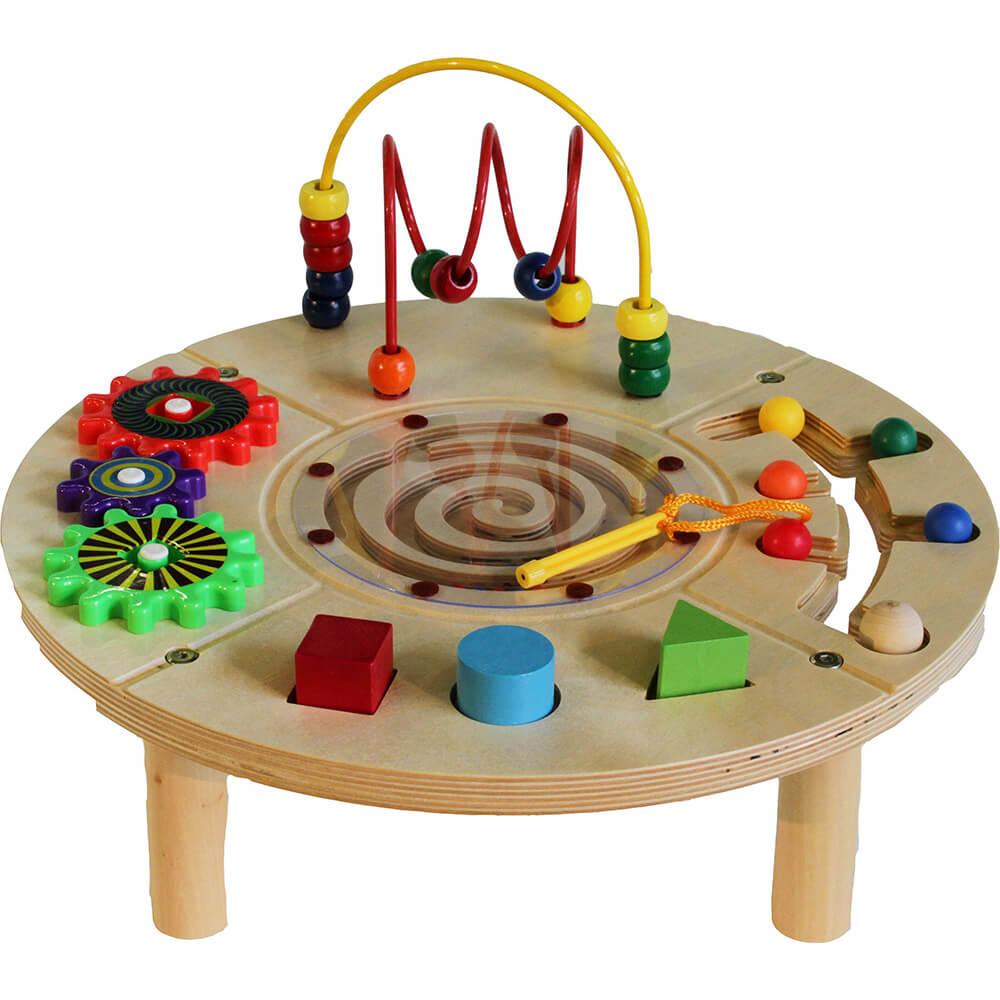 Circle Play Center Wire and Bead Table, 5 Toys
