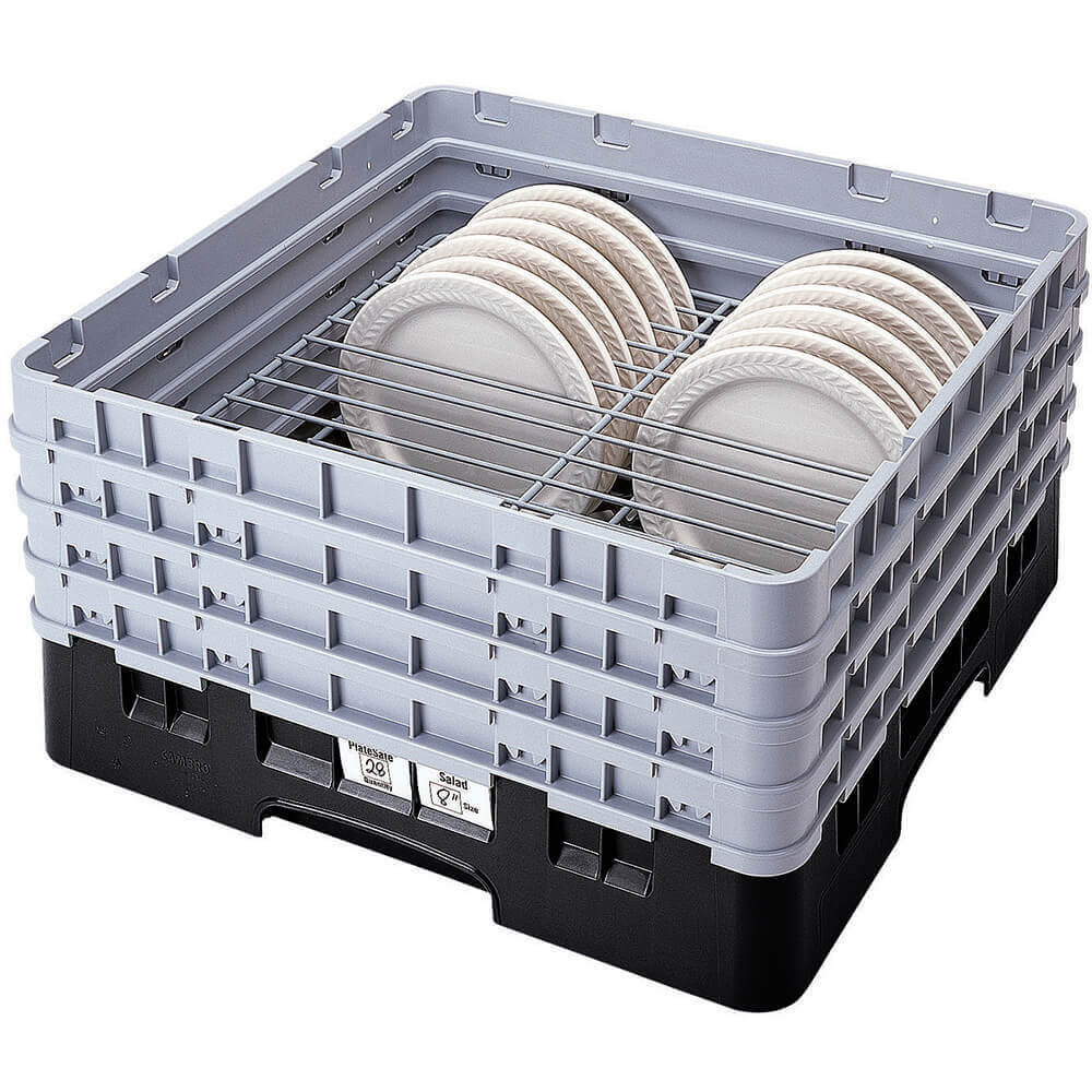 "Black, Full Size Dish Rack, 9 To 10-1/4"" Plates"