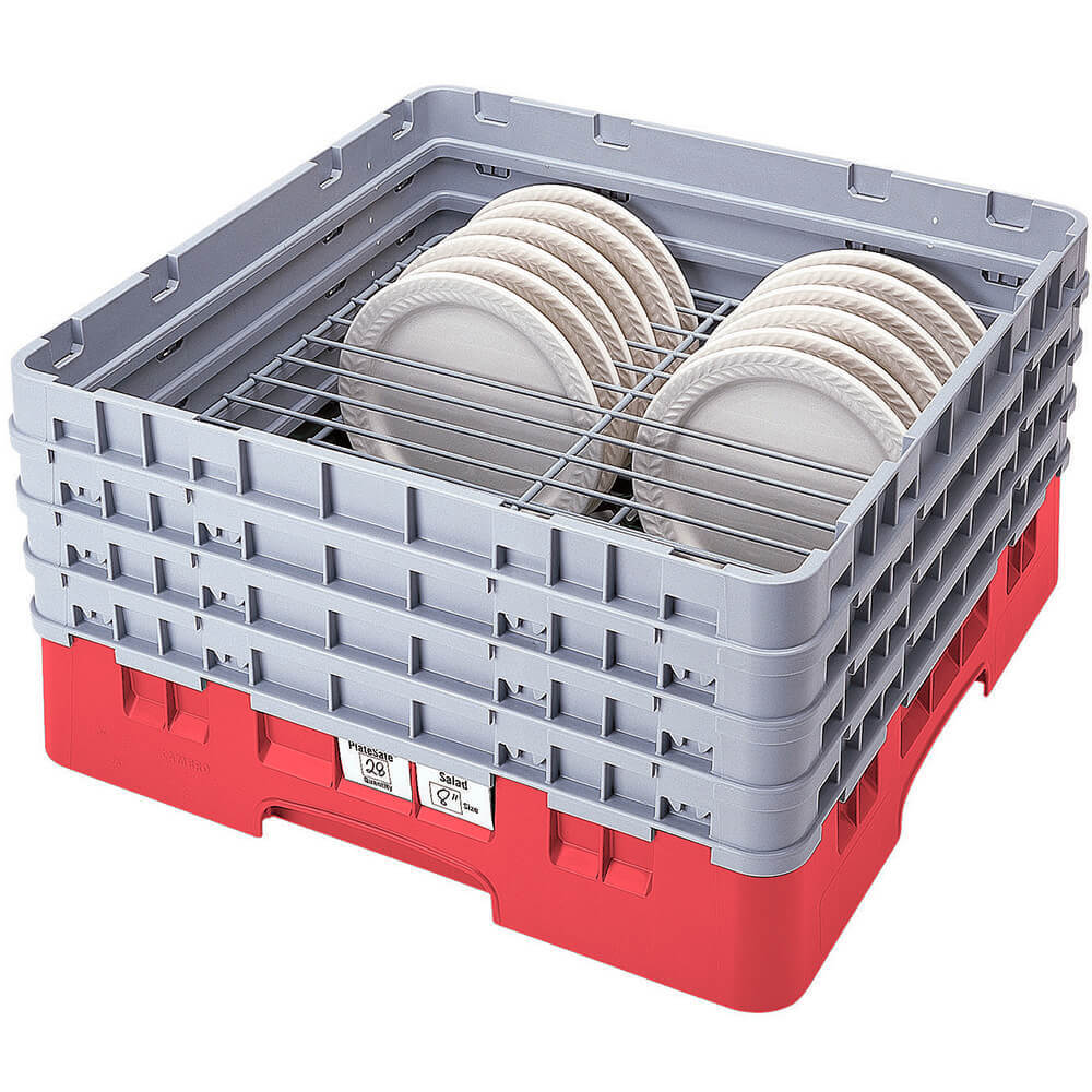 "Red, Full Size Dish Rack, 9 To 11"" Plates"