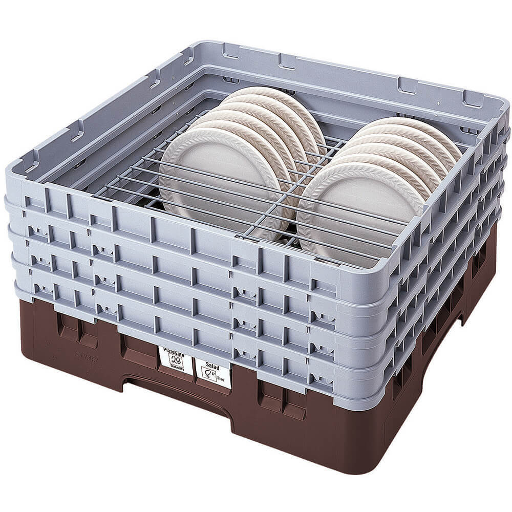 "Brown, Full Size Dish Rack, 9 To 10-1/4"" Plates"